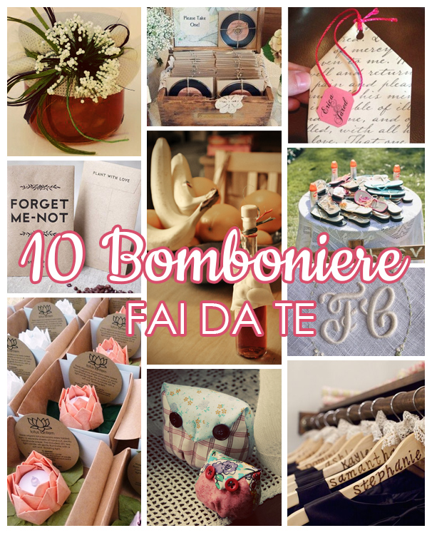 Favorito 10 Idee per bomboniere fai da te | Dire Di Si UP45