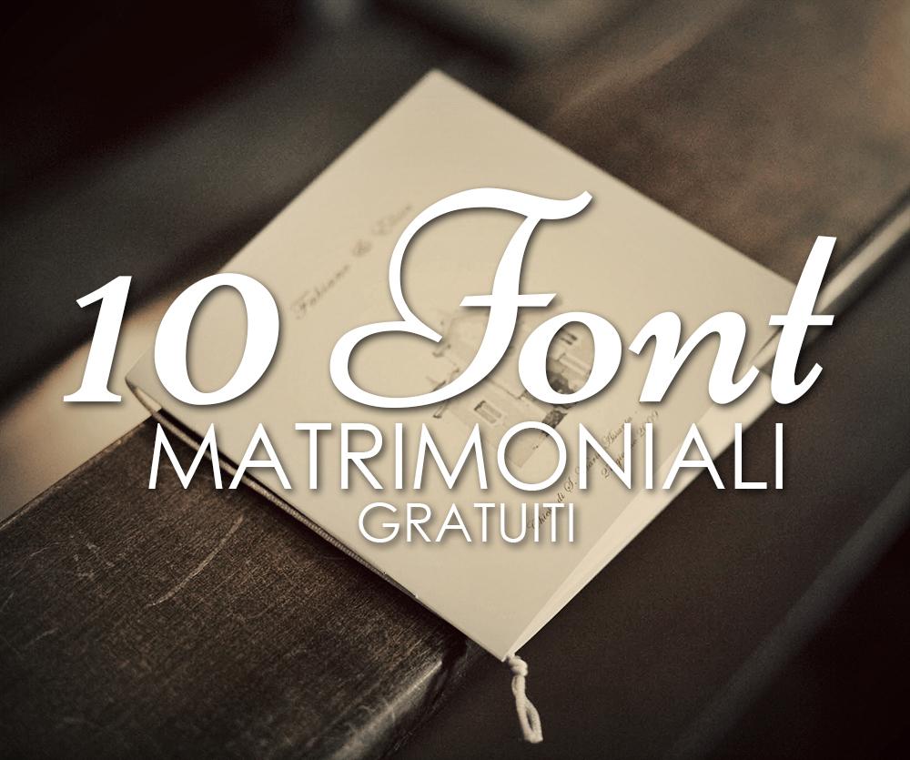 10 font matrimoniali gratuiti