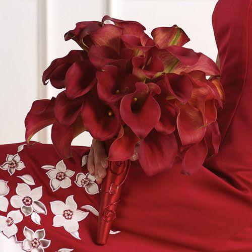 Bouquet di calle rosse