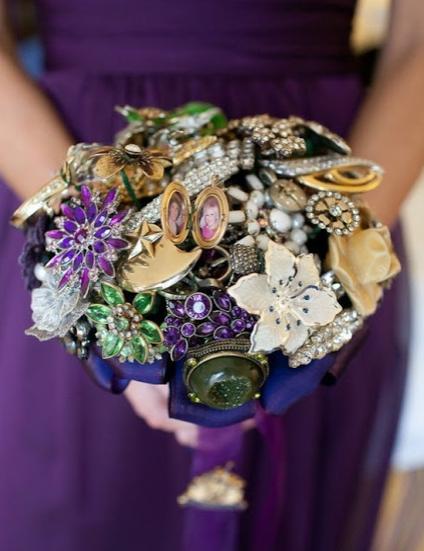 Bouquet gioielli bigiotteria perle