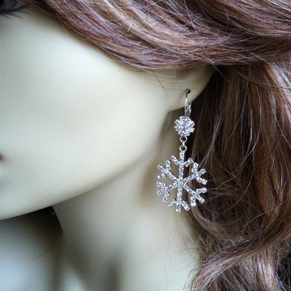 orecchini fiocco di neve